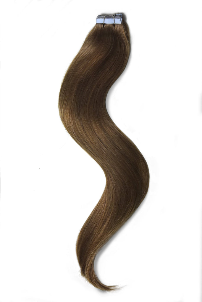 tape in hair extensions medium ash brown 8