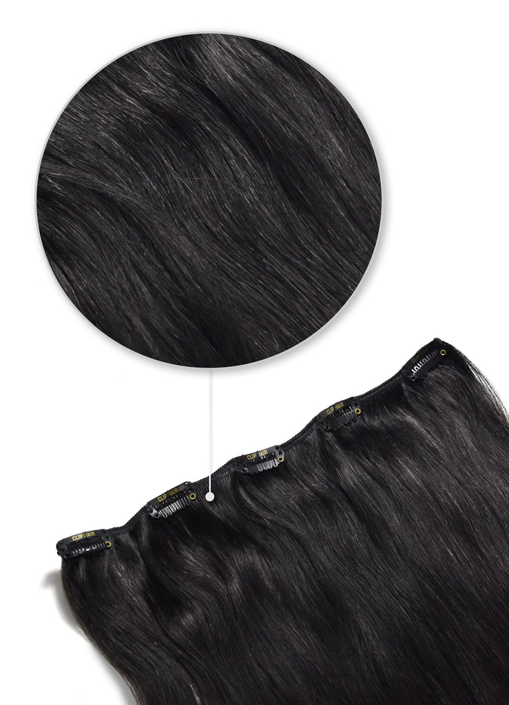 one piece hair extensions natural black clip in extension