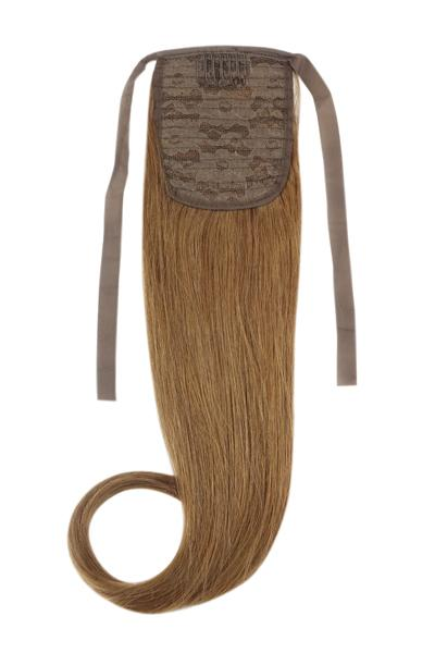Clip in Ponytail Remy Human Hair Extensions - Light/Chestnut Brown (#6)