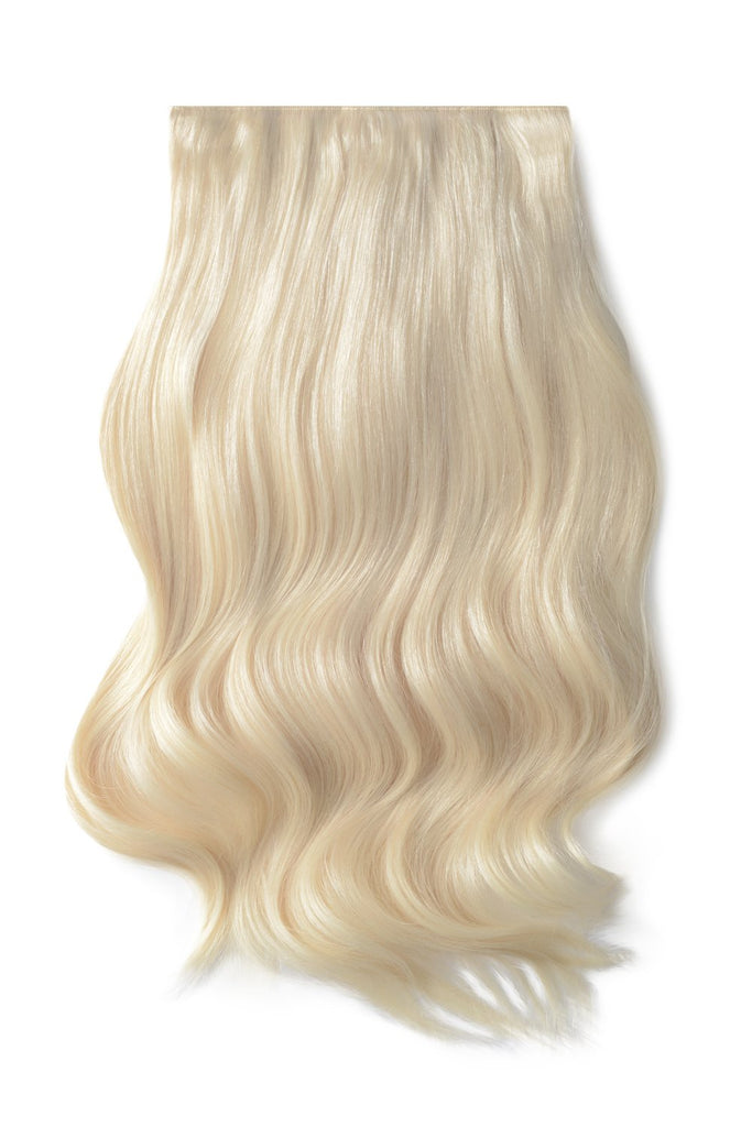 double weft hair extensions lightest blonde shade 60 by Cliphair™