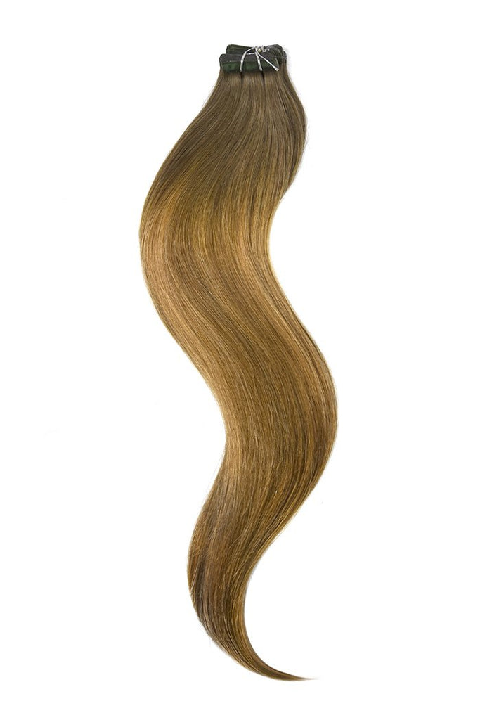 Bronze Tape In Balayage Hair Extensions