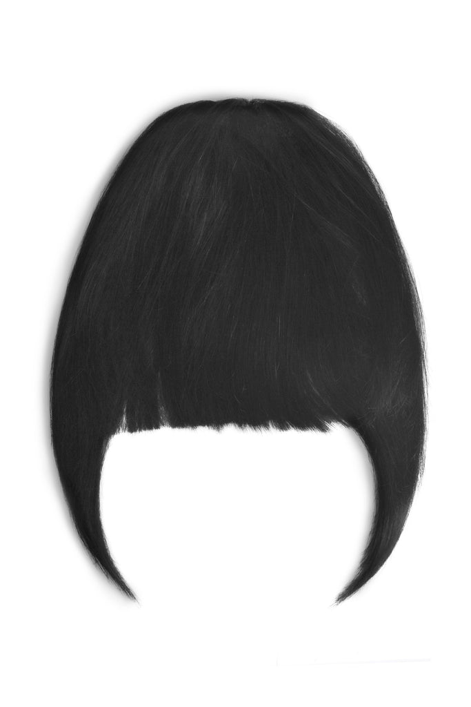 clip in fringe human hair natural black