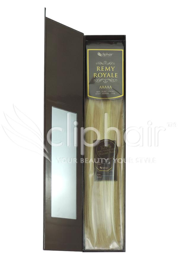 Royale human hair weft/weave Human Hair Extensions - Blonde Mix (#16/613)