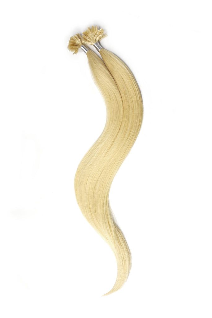 Nail Tip / U-Tip Pre-bonded Remy Human Hair Extensions - Bleach Blonde (#613)