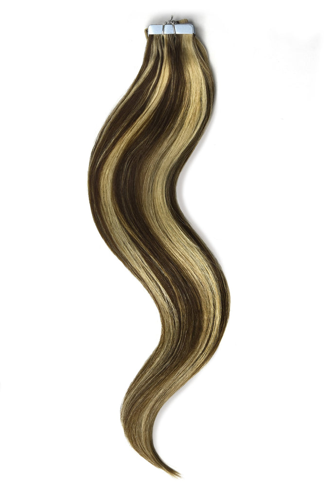 Tape in Remy Human Hair Extensions - #6/613