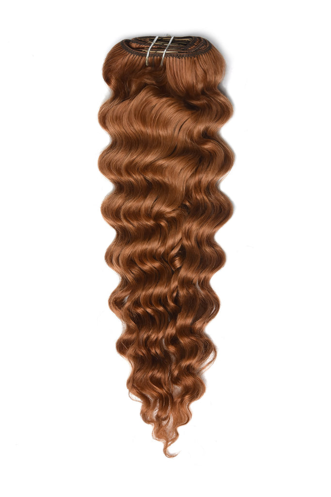 Red curly hair extensions