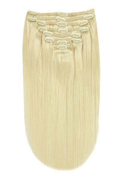 lightest blonde clip in hair extensions uk
