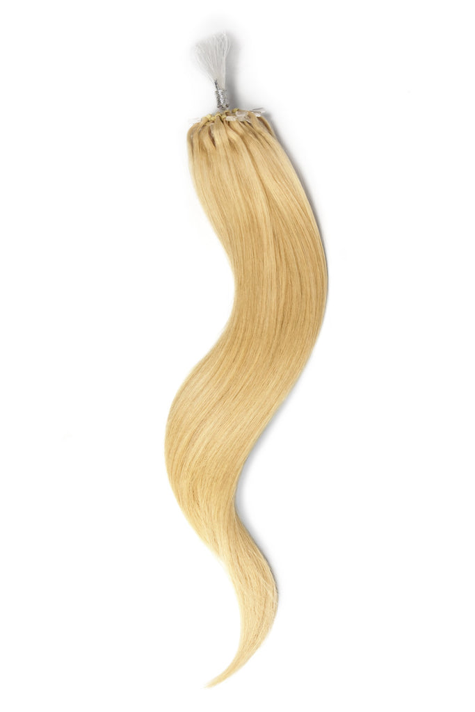 Micro Ring Loop Remy Human Hair Extensions - Light Ash Blonde (#22)