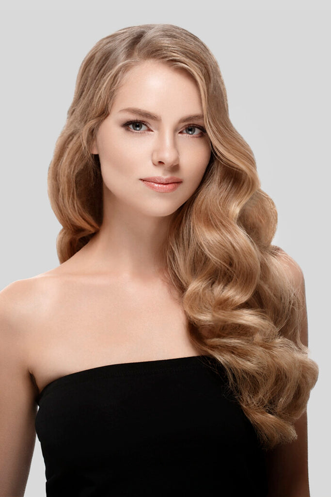 one piece clip in hair extensions 100% Human Hair. Free 1-2 Day Shipping In USA