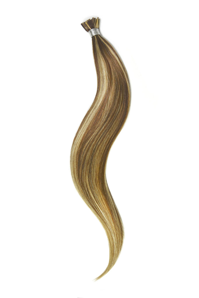 Stick Tip / I-Tip Pre-bonded Remy Human Hair Extensions - Light Brown/Bleach Blonde Mix (#6/613)
