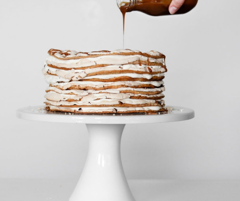 Gramma K's Maple Walnut Meringue Cake