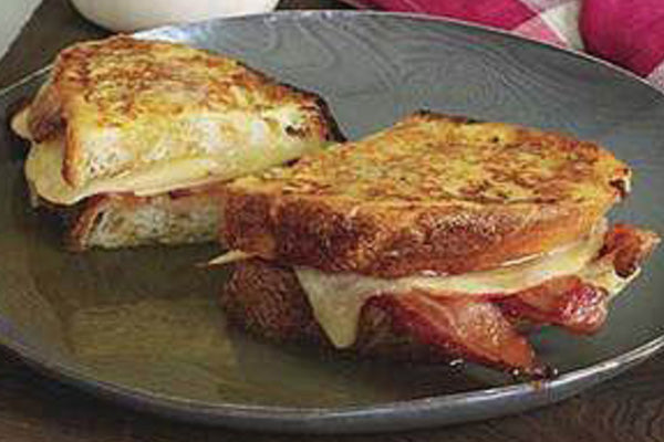 Bacon Cheddar and Apple Monte Cristo Sandwich