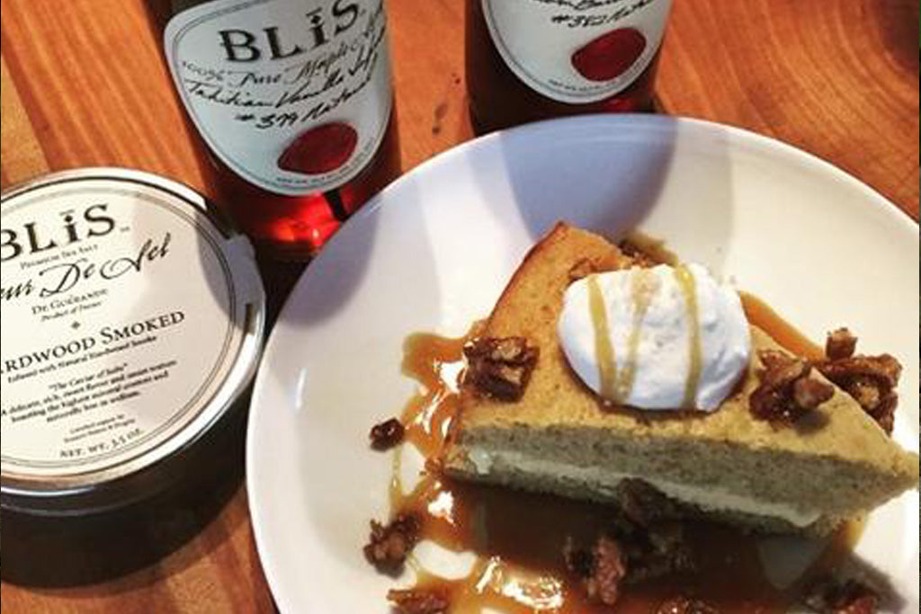 White Spice Cake Blis bourbon maple syrup