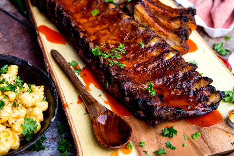 Grilled Baby Back Ribs with BLiS Blast Hot Pepper Sauce