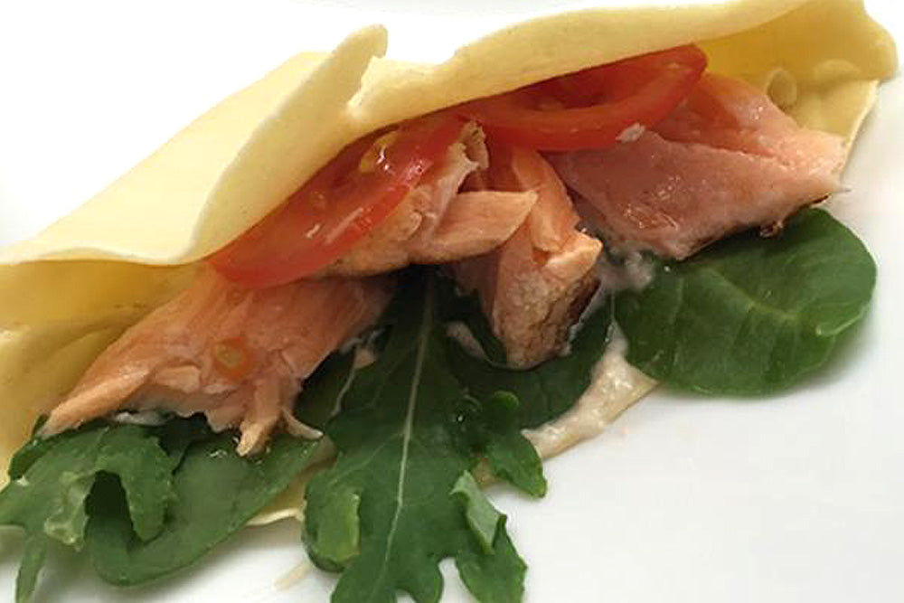 Poached Salmon Crepe