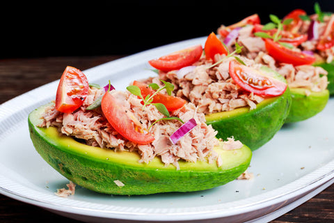 Smoked Albacore Tuna Stuffed Avocado Boats