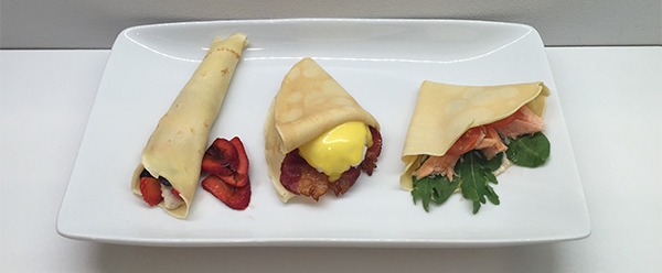 Three Breakfast Crepes