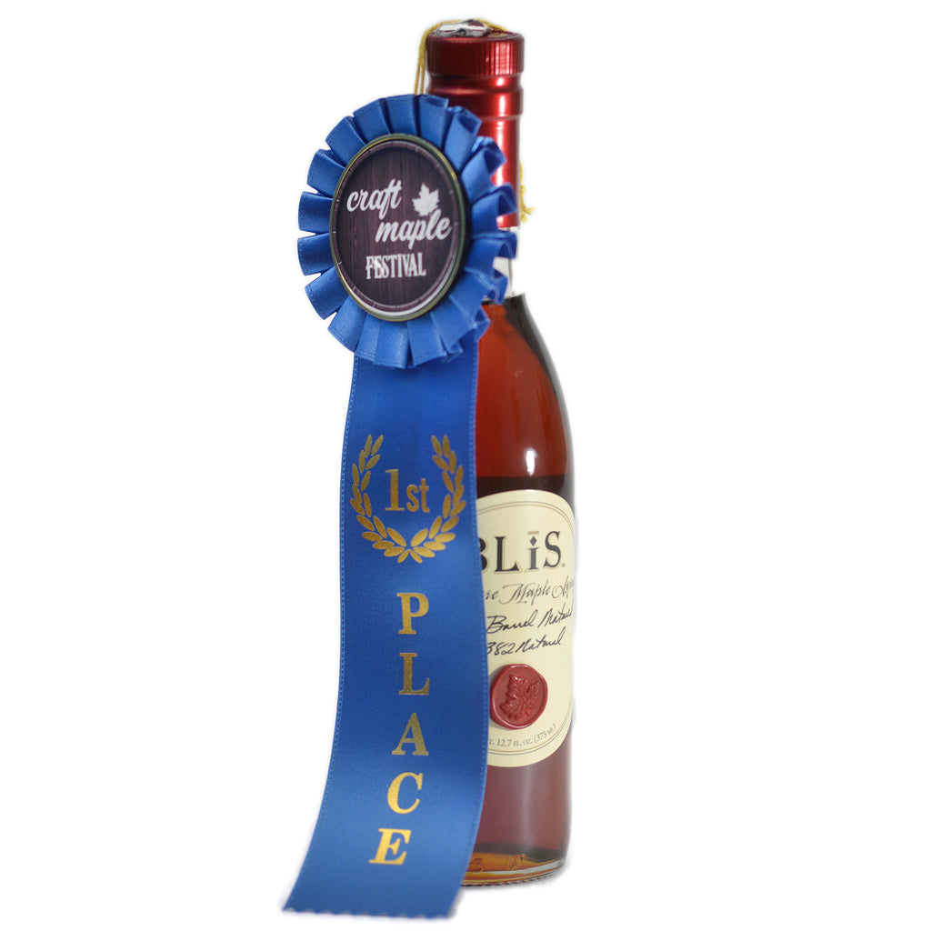 bourbon barrel aged maple syrup craft maple festival ribbon