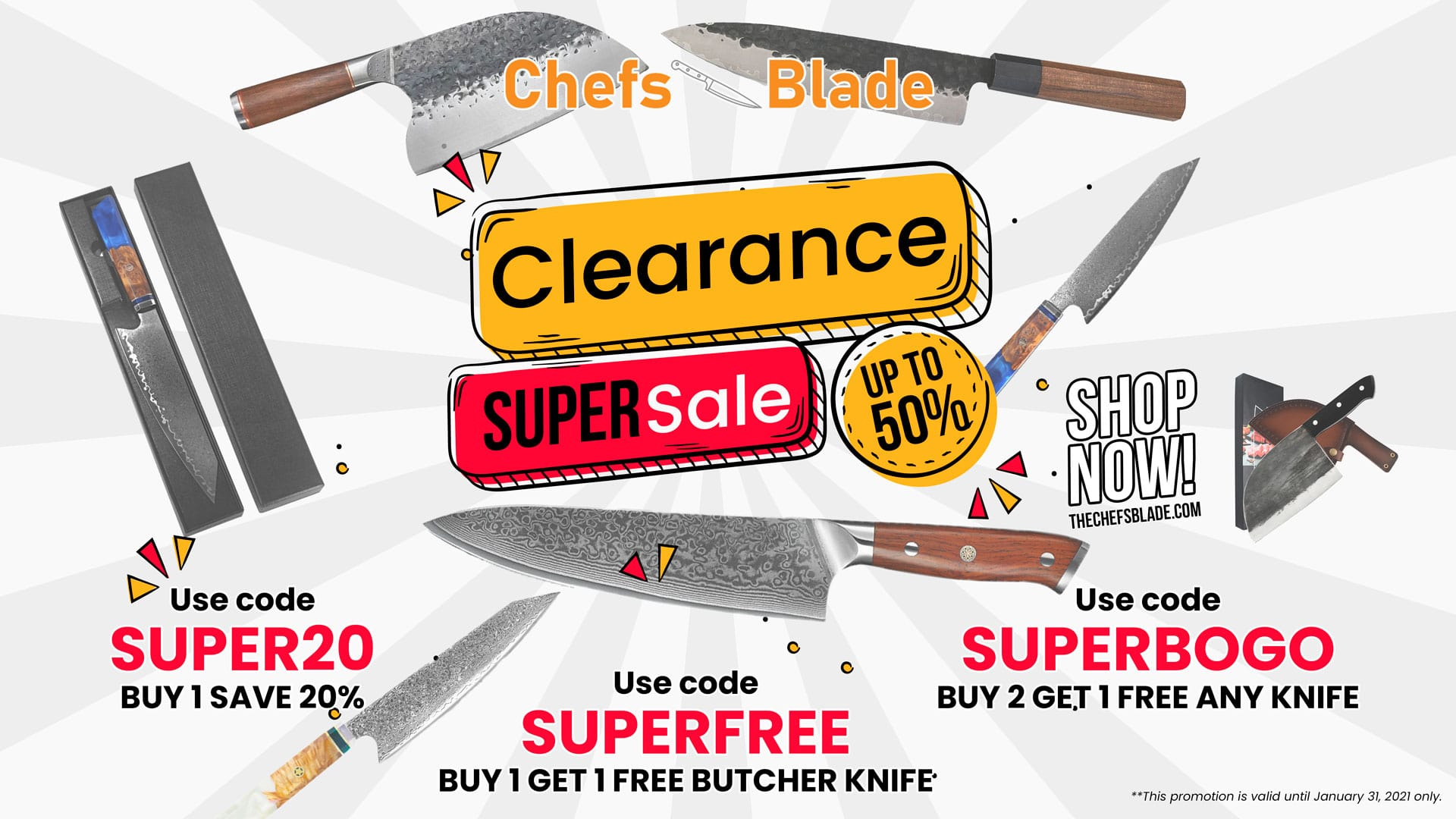 Clearance Sale Event - Chefs Blade Co.