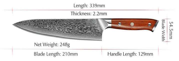8 inches Damascus Chef Knife