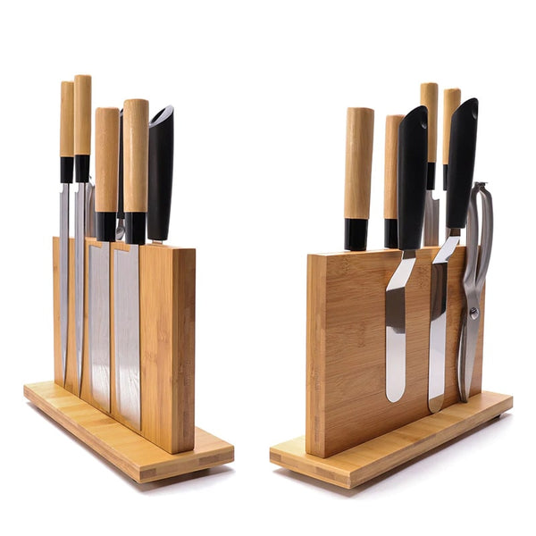 Solid Magnetic Bamboo Knives Holder