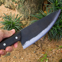 320mm Full Tang Hand Forged Butcher Knife. Wood Handle