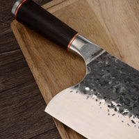 310mm Hand Forged Meat Cleaver Knife. Wood Handle