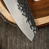 7 inches Hand Forged Kiritsuke Knife. Wood Handle