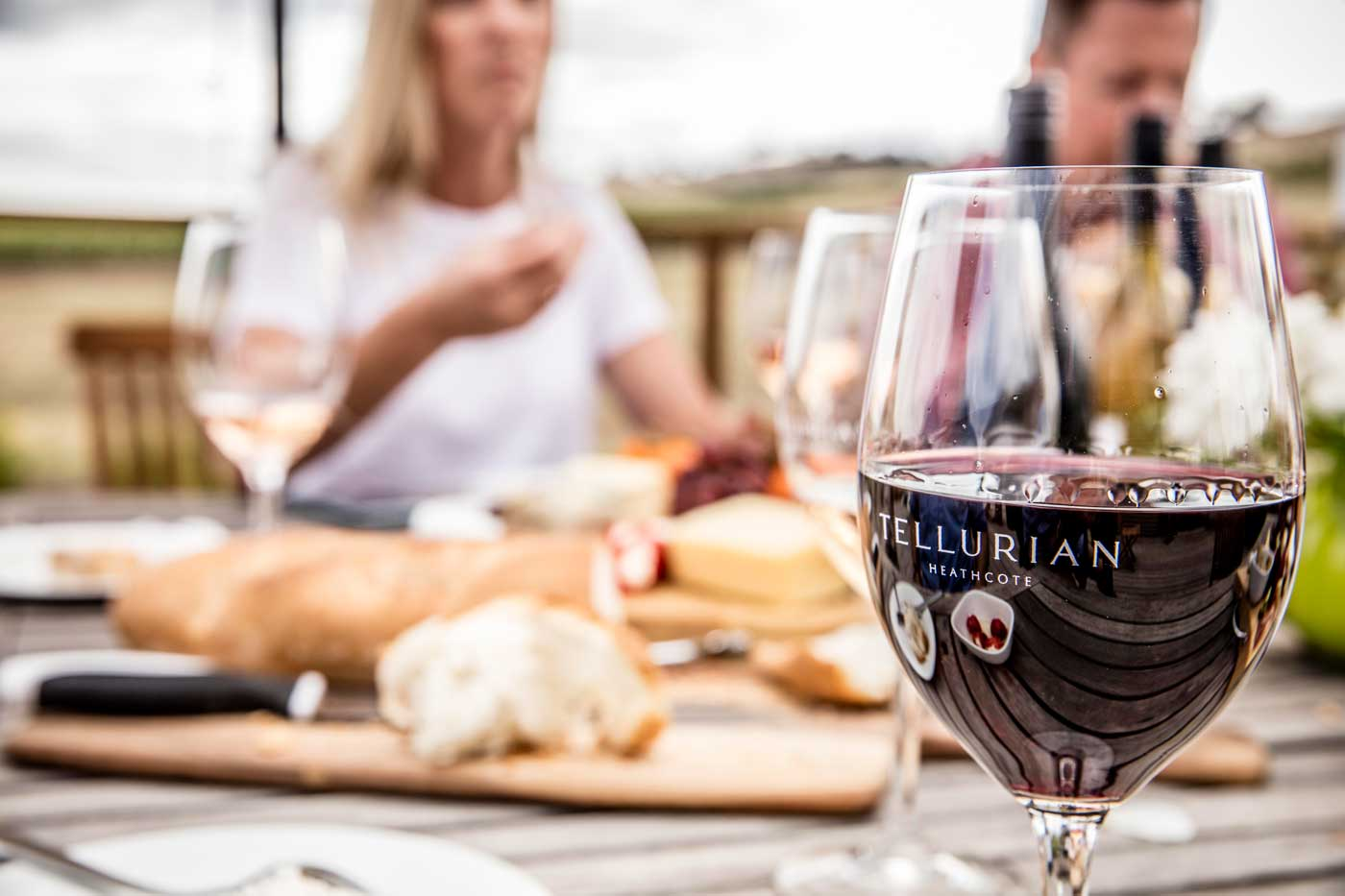 Tellurian Wines sharing red wine, white wine and sunshine