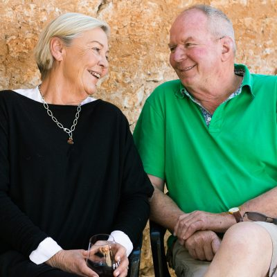 Ang Tolley and David Paxton Owners and Founders of Paxton Wines