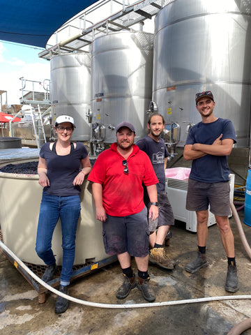 2021 Paxton Vintage Team including new Winemaker Ashleigh Seymour