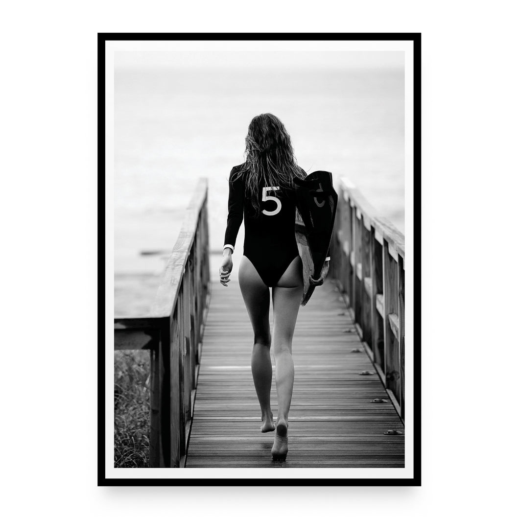 N°5 Surfer Girl Plakat
