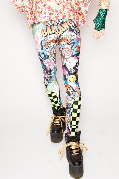 Comic Nascar Leggings
