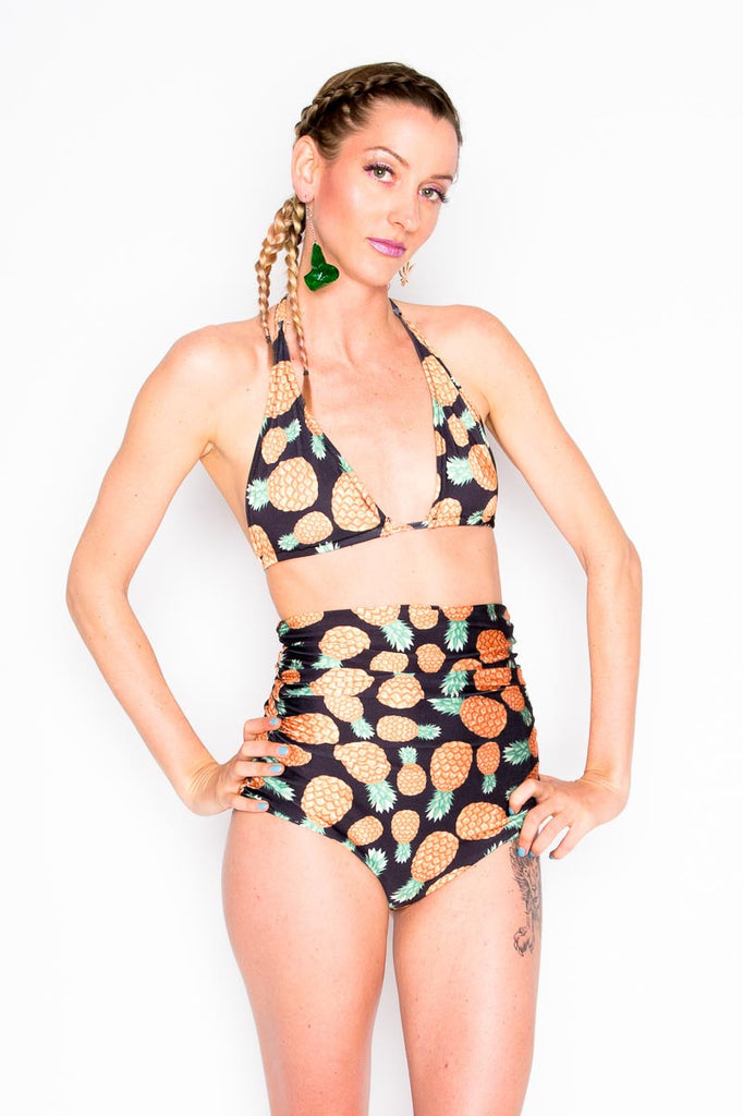 Pineapple High Waist Swim Bottom