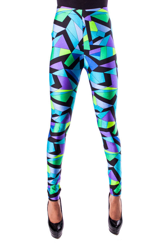 Blue Kaleidoscope Leggings