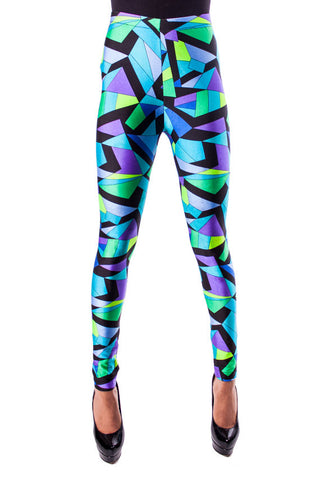 Blue Kaleidoscope Leggings (XS & XL)