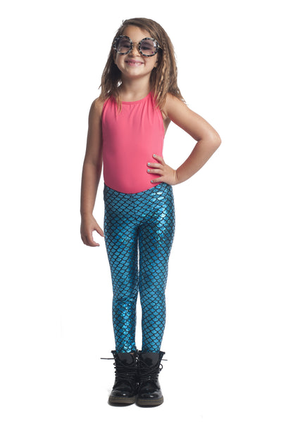 Blue Mermaid Kids Leggings