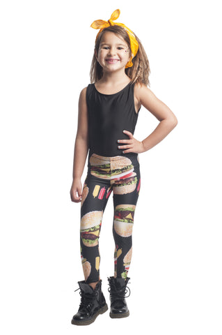 Cheeseburger Kids Leggings