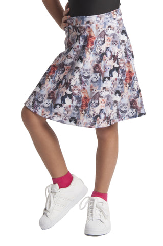Kids Cat Skater Skirt Medium