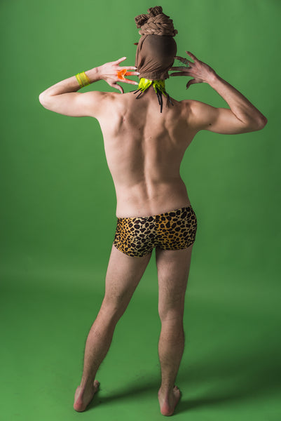 Leopard Mens Speedo Shorts