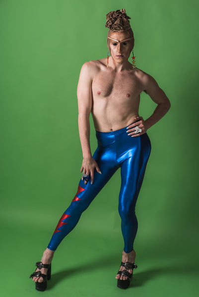 Blue Ziggy Stardust Leggings