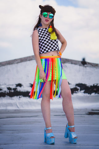 Nascar Checker Crop Top
