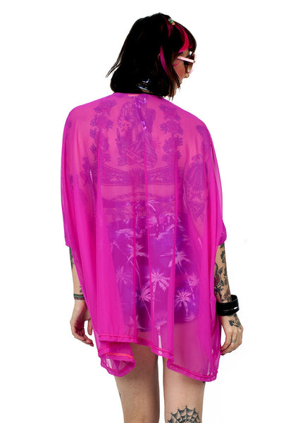 Fuchsia Mesh Tent Dress