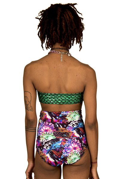 Rainbow Abyss High Waist Swim Bottom