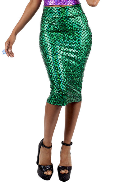 Green Mermaid Pencil Skirt