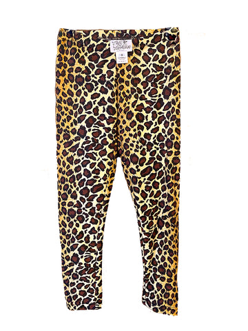 Leopard Kids Leggings (size 5)