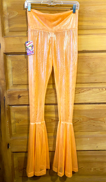 Orange Metallic Bell Bottoms (Medium)
