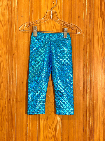 Blue Mermaid Kids Leggings 12 MONTH