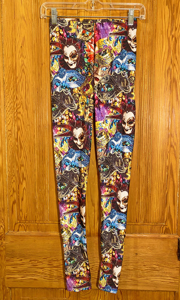Mardi Gras Leggings (Small)
