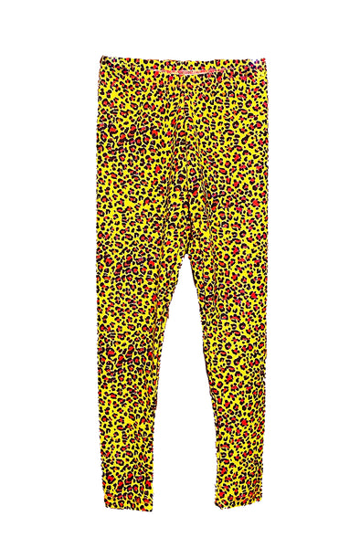 Yellow Leopard Kids Leggings (size 2T & 10)